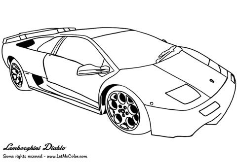 Auto Kleurplaten Lamborghini • Kidkleurplaat.nl