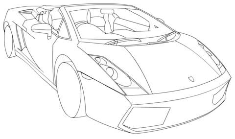 Lamborghini Gallardo Spyder Lp Coloriage