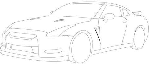 닛산 GTR 색칠하기