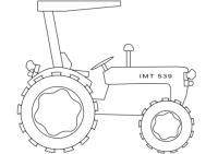Disegno di Trattore semplice da colorare | Disegni da ...