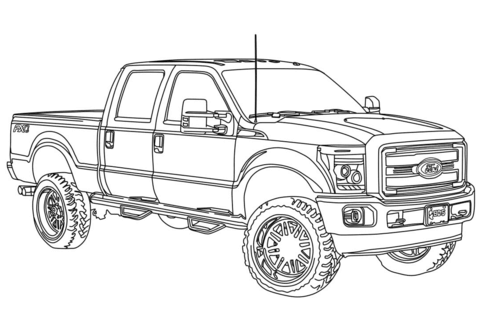 2014 Ford F 150 Drawings Sketch Coloring Page