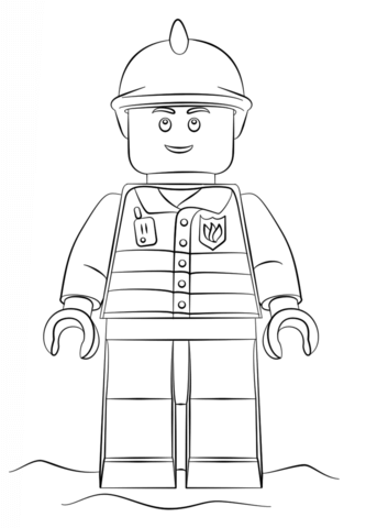 Lego Fireman Coloring Page Free Printable Coloring Pages