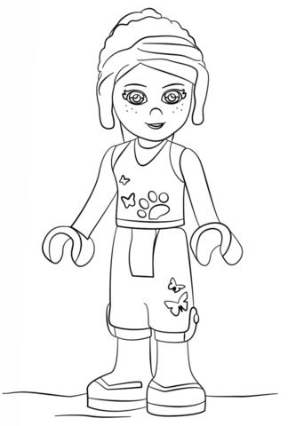 Desenho De Lego Amigos Mia Para Colorir Desenhos Para