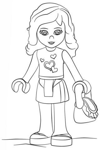 Click To See Printable Version Of Lego Friends Olivia Coloring Page