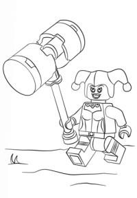 Dibujo de Harley Quinn de Lego para colorear