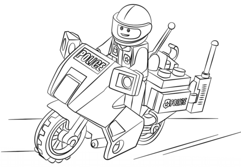 Lego Forest Police Coloring Pages Coloring Pages