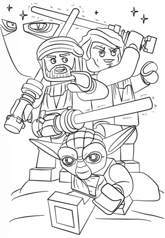 Desenho de Lego Guerra nas Estrelas a Guerra dos Clones