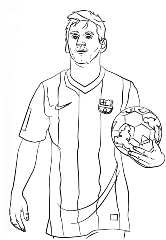 Lionel Messi Coloriage