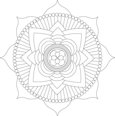 Mandala Coloring Pages Free Coloring Pages