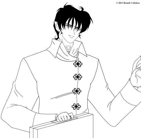 Professor Jade from Vampire Knight Manga coloring page