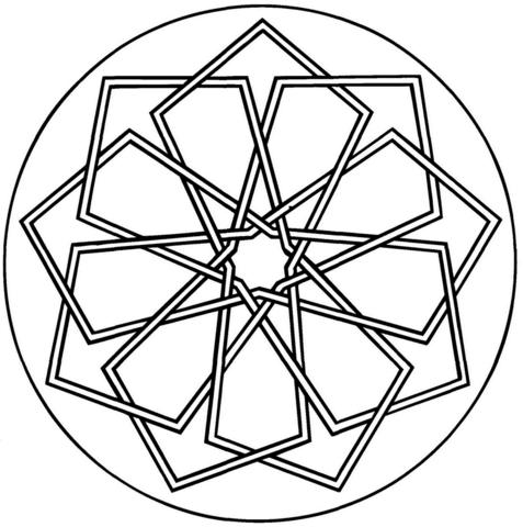 Mandala To Color Patterns Geometric 3