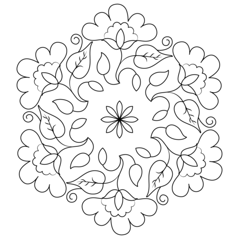 Peacock Rangoli Designs Coloring Pages Sketch Coloring Page