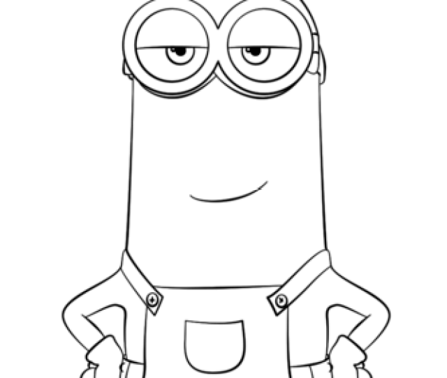 Minion Kevin Coloring Page Free Printable Coloring Pages