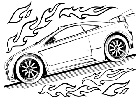 Click To See Printable Version Of Hot Wheels Car Coloring Page