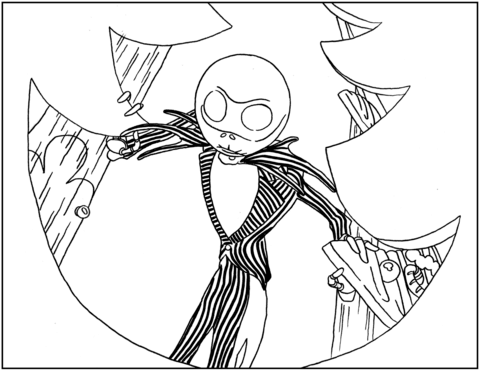 Jack Skellington from Nightmare Before Christmas coloring