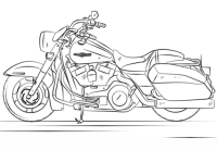 Harley Davidson Road King coloring page
