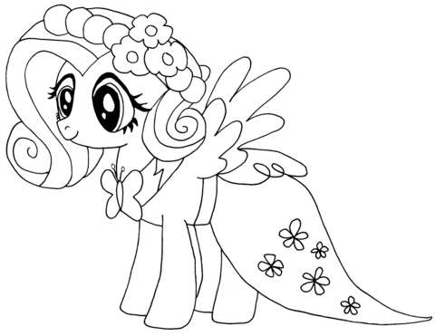 Coloriage My Little Pony Fluttershy Coloriages A Resep Masakan Nusantara