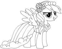 Dibujo de Rainbow Dash para colorear   Dibujos para ...