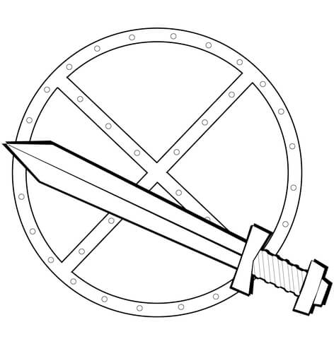 shield coloring page # 3