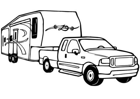 How to Draw an RV Clip Art