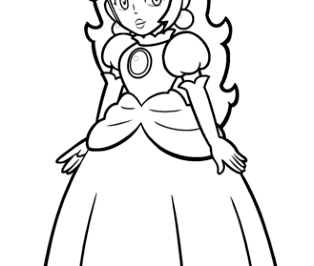 Mario Princess Peach Coloring Page Free Printable Coloring Pages