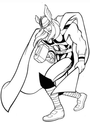 Marvel Thor coloring page