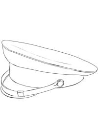 Dibujo de Gorra de Militar para colorear
