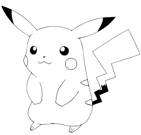 Pokemon Go Pikachu Coloring Page Free Printable Coloring Pages