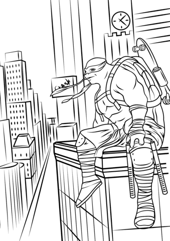 Teenage Mutant Ninja Turtles: Out of the Shadows coloring