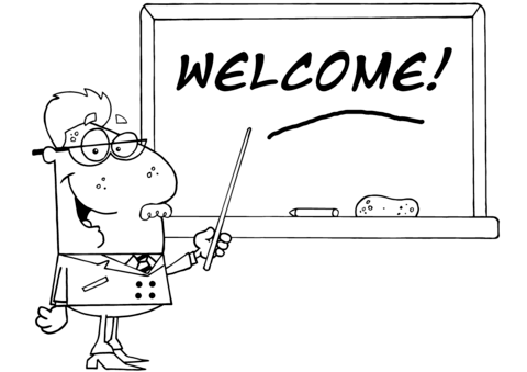 Sheet Welcome To Open House Coloring Pages