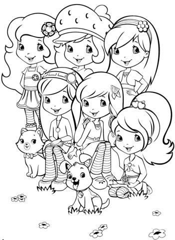 Click To See Printable Version Of Strawberry Shortcake And Friends Coloring Page