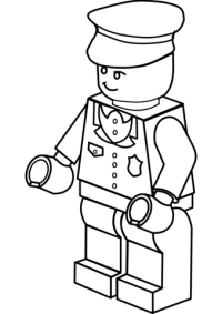 Lego Policeman coloring page | Free Printable Coloring Pages