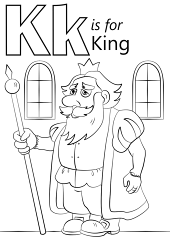 Letter K Is For King Coloring Page Free Printable Coloring Pages
