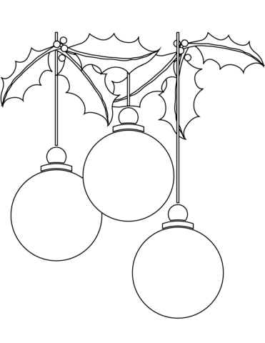 Bolas De Navidad Para Imprimir. Excellent Dibujo De Una
