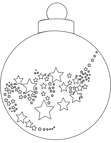 Christmas Ornament Coloring Page Free Printable Coloring