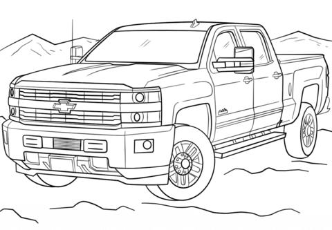 2017 Chevrolet Silverado 3500hd High Country coloring page