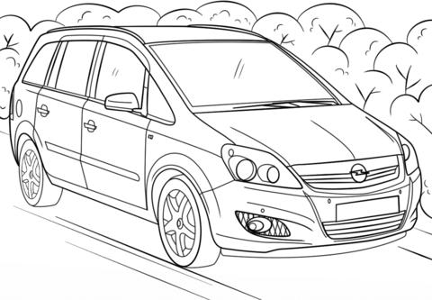 Ausmalbilder Autos Opel