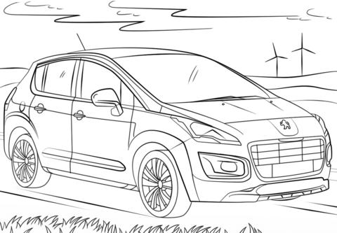 Disegno Peugeot 107 Categoria Mezzi Trasporto Da Colorare