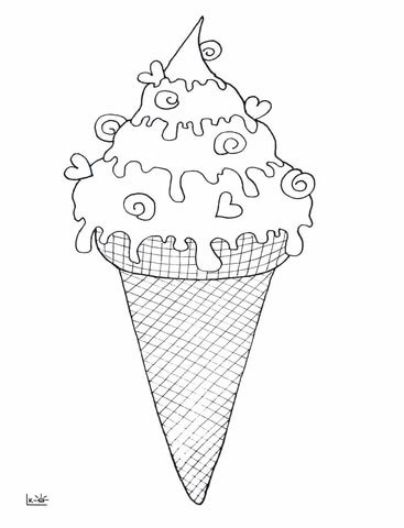Snow Cone Pages Printable Coloring Pages