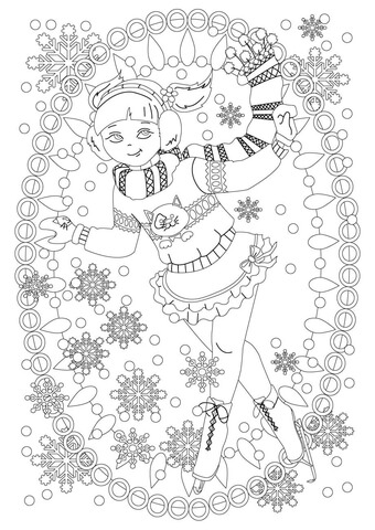 Ice Skating Girl Coloring Page Free Printable Coloring Pages