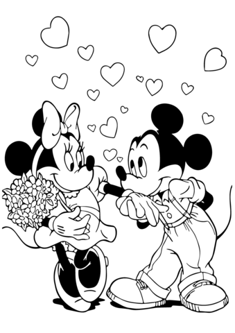 Minnie Mouse Coloring Pages Free Coloring Pages