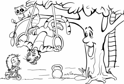 Bear Climbing Tree Coloring Pages Coloring Pages