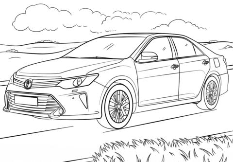 Toyota Camry värityskuva