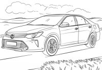 Toyota Camry coloring page | Free Printable Coloring Pages
