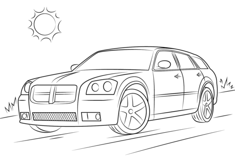 Kleurplaat Dodge Daytona 2006 Dodge Magnum SRT 8 Coloring