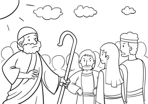 Moses Asks Israelites Not to Be Afraid After They Saw