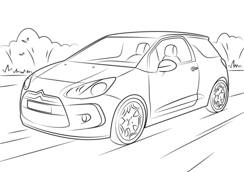 Citroen Saxo Coloriage Sketch Coloring Page