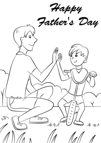Fantstico Da De Padres Felices Para Colorear Regalo