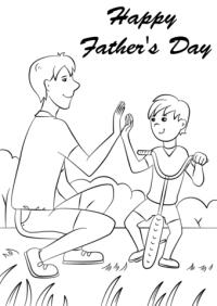 Fantstico Da De Padres Felices Para Colorear Regalo ...