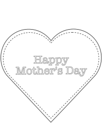 Happy Mother's Day Heart coloring page
